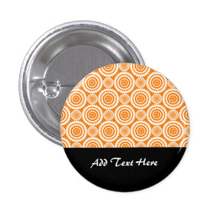 Círculos geométricos modernos naranja y modelo del