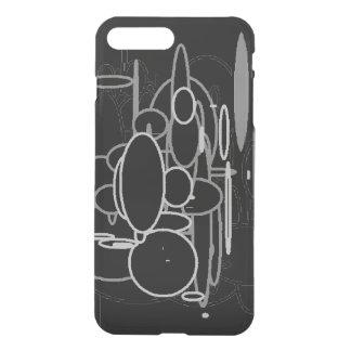 Círculos, iPhone negro, infrecuente gris blanco Funda Para iPhone 7 Plus