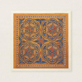 Círculos medievales servilletas de papel