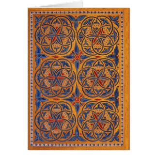 Círculos medievales tarjeta de felicitación