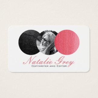 Círculos modernos de la foto de la acuarela tarjeta de visita