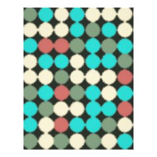Círculos multicolores del vintage. Modelo Flyer A Todo Color