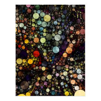 Círculos multicolores geométricos de los modelos postal