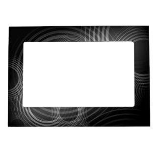Círculos negros y blancos marcos magnéticos