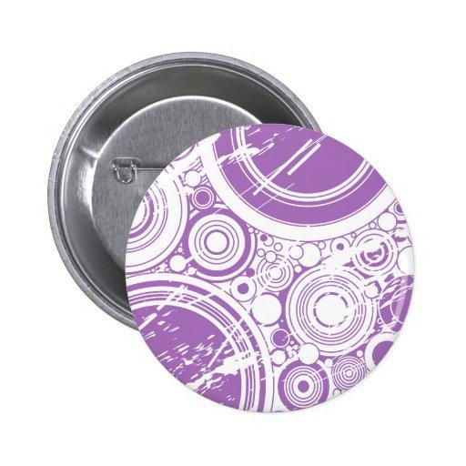 Círculos púrpuras del Grunge: Arte del vector: Pin