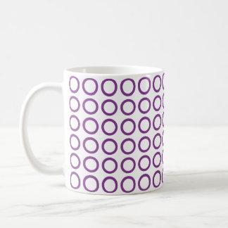 Círculos púrpuras taza de café
