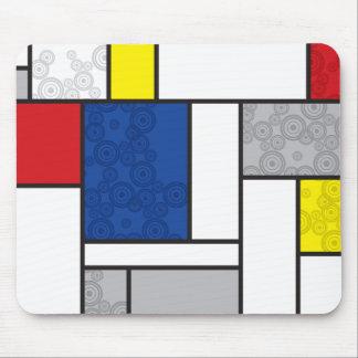 Círculos retros de Stijl del arte minimalista de Alfombrilla De Ratón