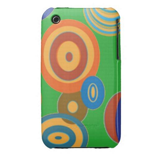 Círculos retros Case-Mate iPhone 3 protector