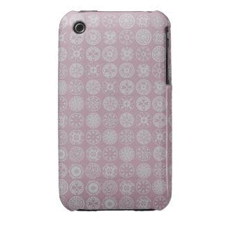 círculos retros rosados lindos iPhone 3 Case-Mate protector