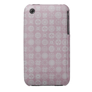 círculos retros rosados lindos iPhone 3 fundas