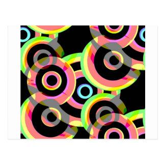 círculos retros vivos rounds.jpg postal