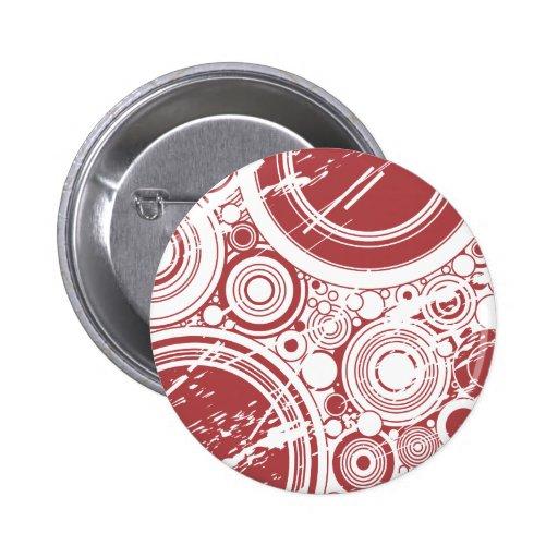 Círculos rojos del Grunge: Arte del vector: Pins