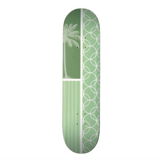 Círculos tropicales de la verde salvia patinetas personalizadas