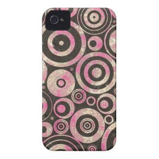 Círculos urbanos rosados del Grunge Case-Mate iPhone 4 Carcasa