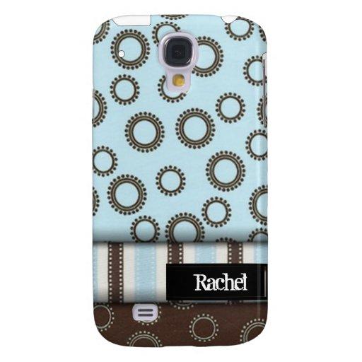 Círculos y rayas iPhone3G del azul y de Brown