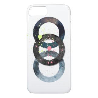Círculos y salpicaduras geométricos de la pintura funda iPhone 7