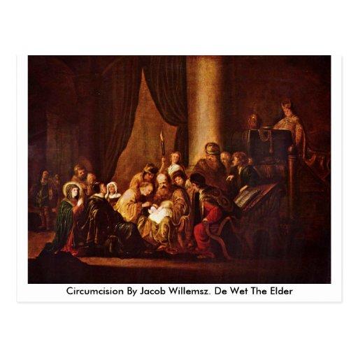Circuncisión de Jacob Willemsz. Anciano de De Wet  Postal