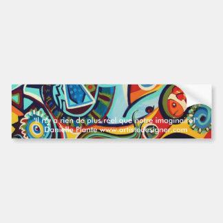 Cirque y cocasseries - diseño de la bella arte pegatina para coche