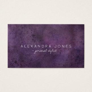 Ciruelo minimalista simple de la púrpura de la tarjeta de visita