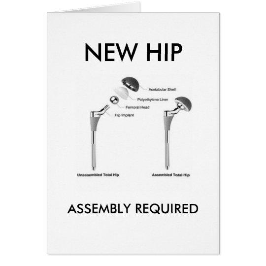 Cirugía de la cadera de la diversión - asamblea tarjeta de felicitación