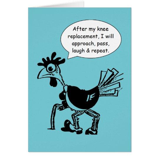 Cirugía del reemplazo de la rodilla - cita de la tarjeta de felicitación