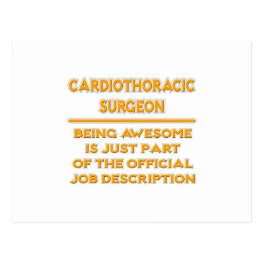 Cirujano de Cardiothoracic. Descripción de las Postal