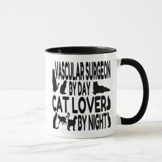 Cirujano vascular del amante del gato taza