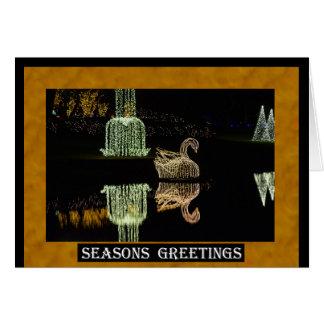 Cisne 2 del navidad 2016 tarjeta de felicitación