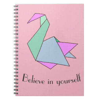 Cisne de Origami Cuaderno