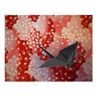 Cisne elegante de Sakura Origami del japonés Postal