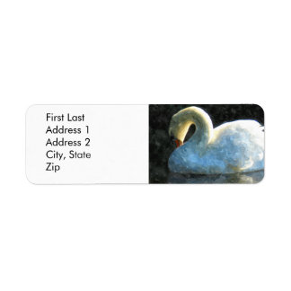 Cisne Etiqueta De Remitente
