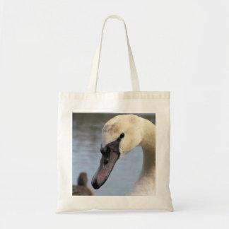 Cisne mudo joven bolsa tela barata