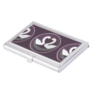 CISNES del AMOR del tenedor de la tarjeta de Caja De Tarjetas De Visita