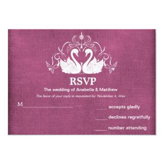 Cisnes RSVP Invitación 12,7 X 17,8 Cm