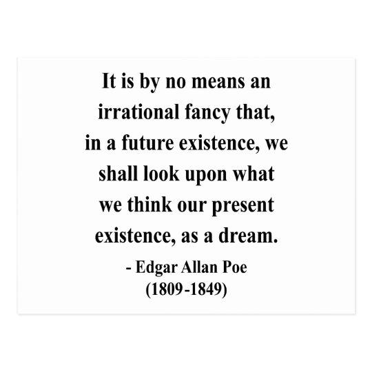 Cita 7a de Edgar Allen Poe Postal