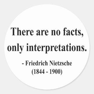 Cita 9a de Nietzsche Pegatina Redonda
