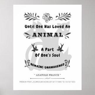 Cita animal póster