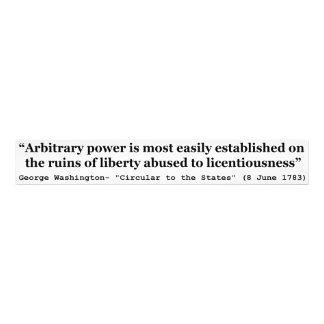 Cita arbitraria del poder de George Washington Fotografías