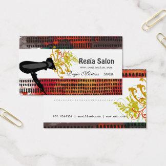 Cita artística del salón del modelo del estilista tarjeta de negocios