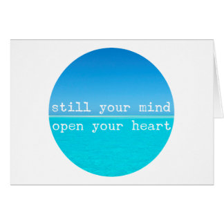 Cita atenta de la meditación: Todavía mente, Tarjeta De Felicitación
