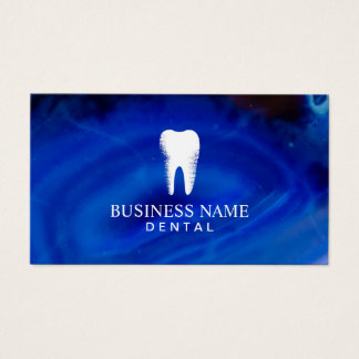 Cita azul elegante del cuidado dental del dentista tarjeta de negocios