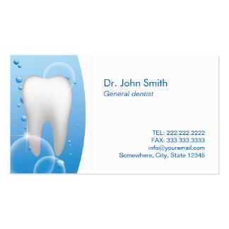 Cita blanca llana del cuidado dental del diente tarjeta de visita