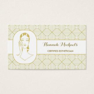 Cita certificada de la mujer del oro blanco del tarjeta de negocios