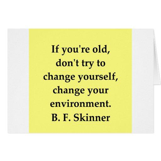 cita de B F Skinner Felicitacion