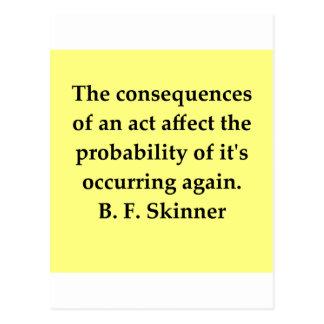 cita de B F Skinner Tarjeta Postal