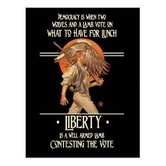 Cita de Ben Franklin: Cordero armado bien Postal
