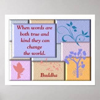 Cita de Buda - arte del poster