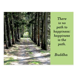 Cita de Buda -- postal