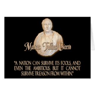Cita de Cicero en traición Tarjeta De Felicitación