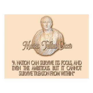 Cita de Cicero en traición Postal